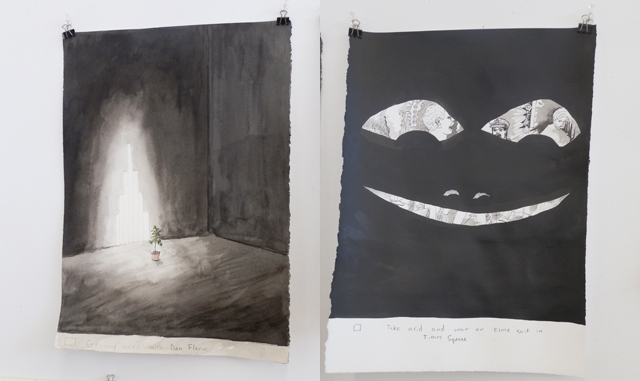Charlie Hobbs, works on paper from his studio