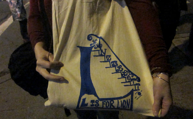 Handmade tote bag for the occasion
