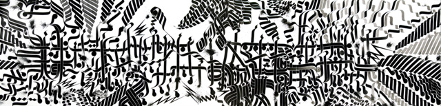 """Rostarr, """"Fireworks Song"""" (2008), sumi ink on handmade paper (click to enlarge)"""