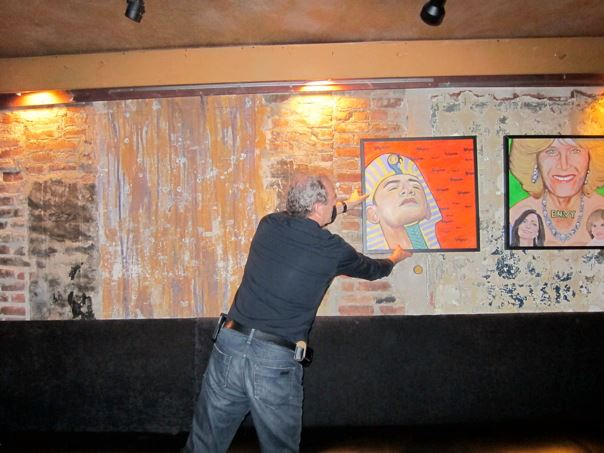 Robert Preston takes down his Seven Deadly Sins series at the request of the owners of Arlene's Grocery (image courtesy the artist)