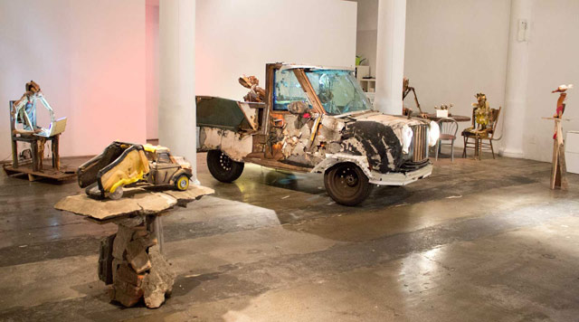 """Brian Fernandes-Halloran, """"Not Past: Old Toys and Lost Friends,"""" installation view at 287 Spring"""