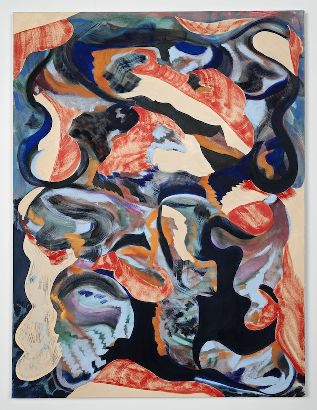 """Ariel Dill, """"We Broke Our Noses on the Door"""" (2013). Oil on canvas, 48 x 36 inches"""