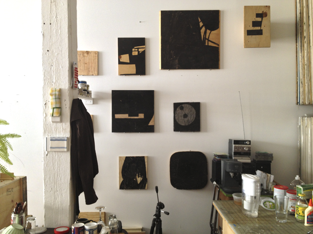 """Plywood works from """"Grid"""" (2003-06), a series by Michael Voss"""