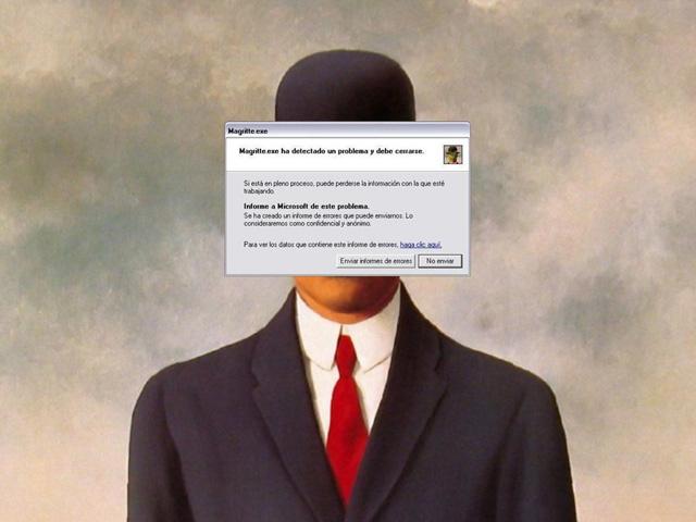 "Pedro Luis Palencia, ""Magritte.exe"" (2010) (via pedroluispalencia.deviantart.com)"
