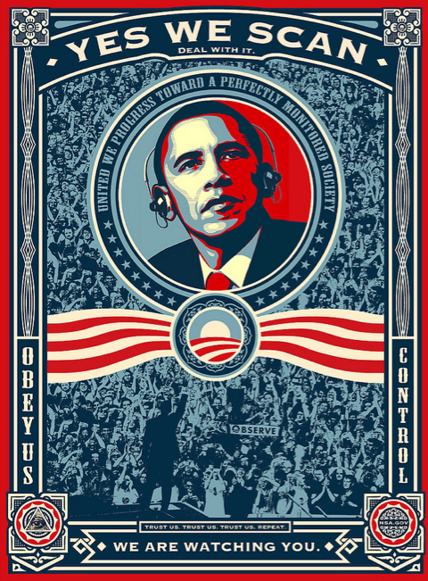 """Shepard Fairey's """"We Did It — Victory!"""" poster for the post-election image has been updated. (via flickr.com/photos/nerdcoreblog)"""