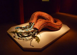 """Sopheap Pich, """"Junk Nutrients"""" (2009), bamboo, rattan, wire, plastic, rubber, metal, cloth, resin, overall: 65 × 49 × 29 in / 165.1 × 124.5 × 73.7 cm (click to enlarge)"""