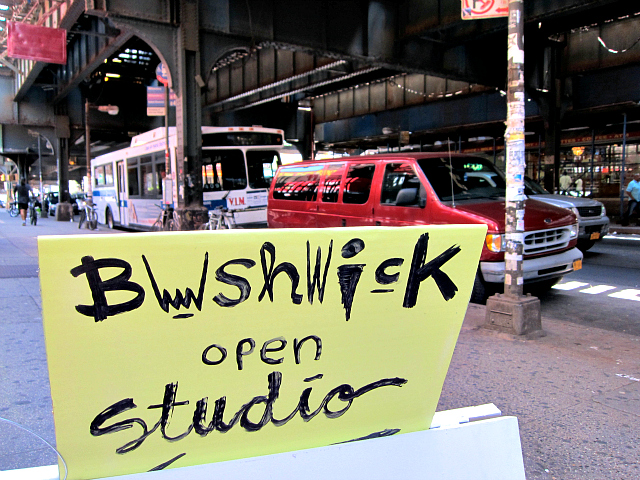 Bushwick Open Studios (all photographs by the author for Hyperallergic)