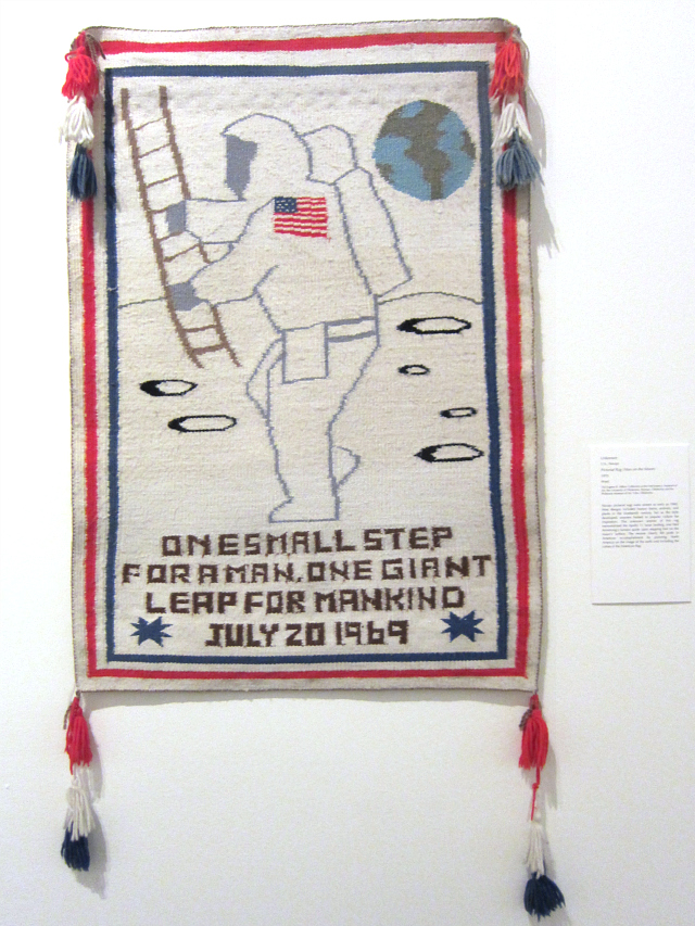 Navajo picture rug of the Apollo 11 moon landing