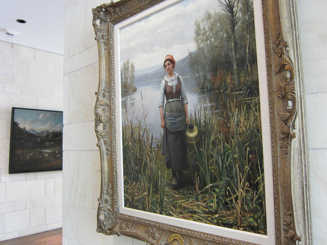"""Daniel Ridgway Knight, """"Early Morning on the ize"""" (193), oil on canvas"""