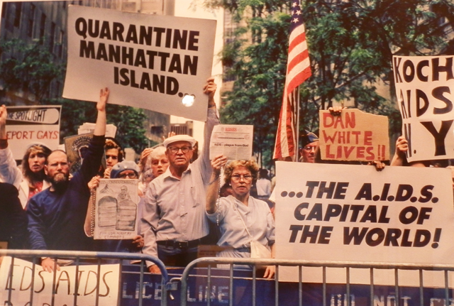 Frank Fournier, [Homophobic Protest], 1988, photographic print