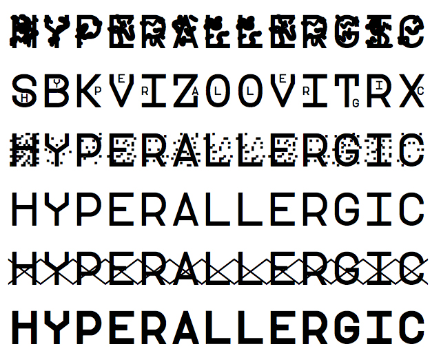 Hyperallergic in the six modes of ZXX