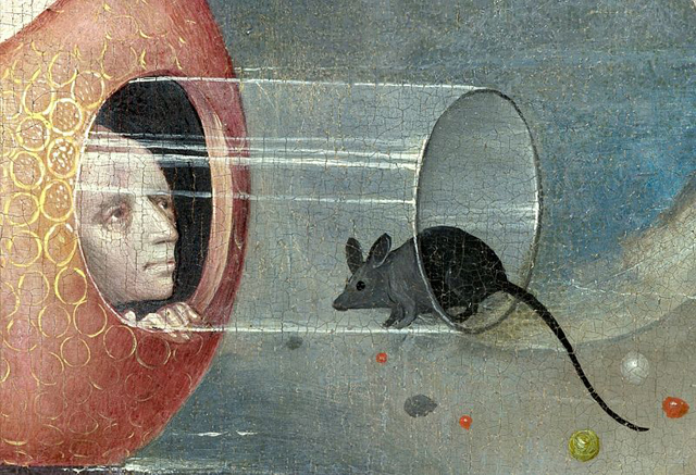 """Hieronymus Bosch, """"The Garden of Earthly Delights"""" (detail) (via Wikimedia)"""