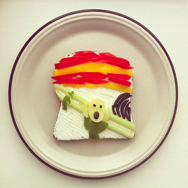 "Wanna munch on Munch's ""Scream""? (All images via instagram.com/idafrosk)"