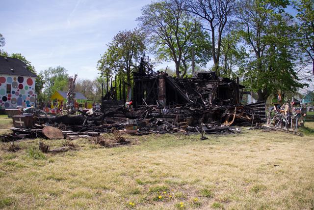 OJ House, post-fire