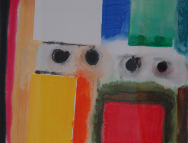 "Patrck Jones, ""Annamakerig Study"" (2009), mixed media on paper"