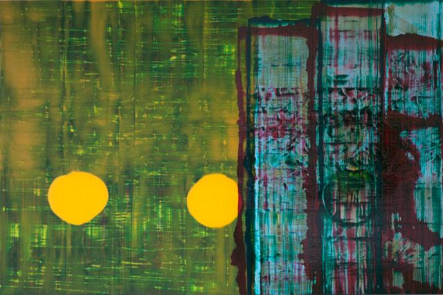 """John Cronin, """"Standard Deviation"""" (2012), oil on aluminium, 60 x 120 x 3 cm"""