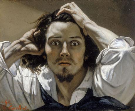 Gustave Courbet, Le Désespéré (1843). Image via Wikipedia