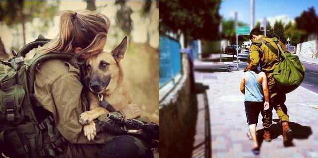 Two official IDF Instagram account photos (left via webinstgrm, right via Flickr)