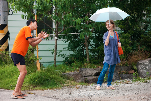 "Hong Sang-soo, ""In Another Country,"" film still (via mubi.com)"