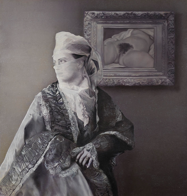 """Taner Ceylan, """"1879"""" (from Lost Painting Series), oil on canvas, 170 cm x 180 cm, 2011"""