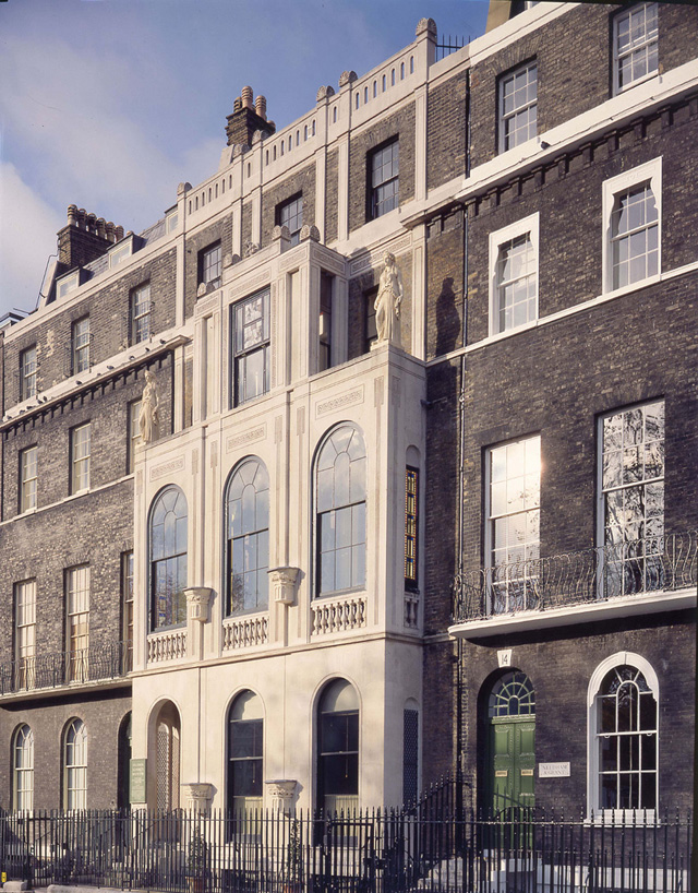 The exterior of Sir John Soane's Museum (all images courtesy of the Trustees of Sir John Soane's Museum, via Flickr)