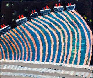 "Katherine Bradford, ""Mile High Liners"" (2012) (click to enlarge)"