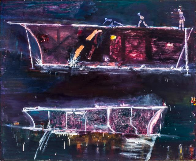 "Katherine Bradford, ""Night Divers"" (2012)"