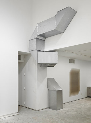 """Charlotte Posenenske, """"Series D Vierkantrohre (Square Tubes)"""" (1967/2009), sheet steel, dimensions and configuration variable (click to enlarge)"""