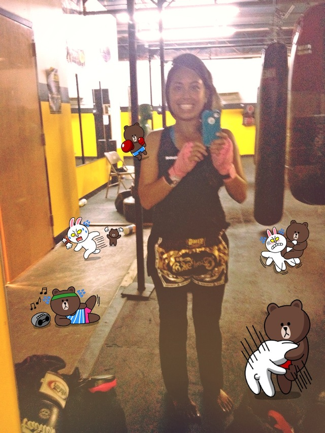 "Selfie by Diana Cruz: ""Muaythaifighters*do* smile."""