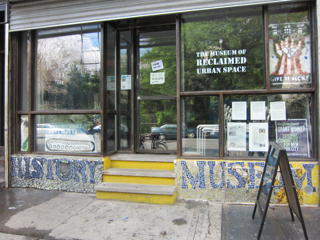 The exterior of the Museum of Reclaimed Urban Space (all photos by the author for Hyperallergic)