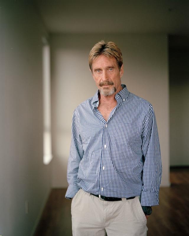"Kirk Crippens, ""John McAfee,"" (2013)"