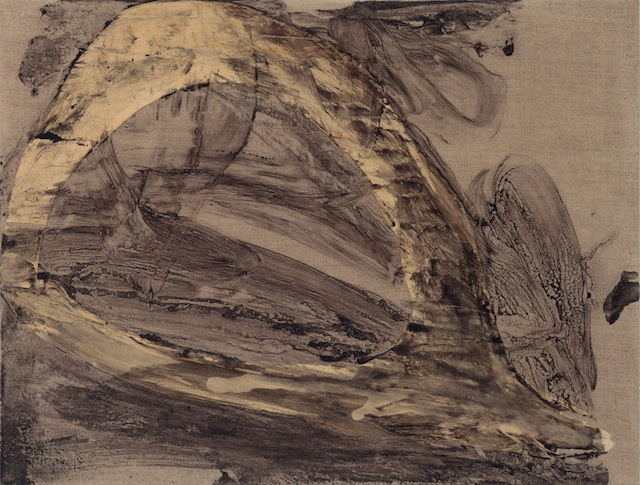 "Little Nomad 2, 2013, 16 x 21"", acrylic mediums, graphite, veneer on linen"