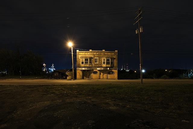 "Scott Hocking, ""Jefferson at Dearborn"" from the series ""Detroit Nights"" (2011) (image via ScottHocking.com)"