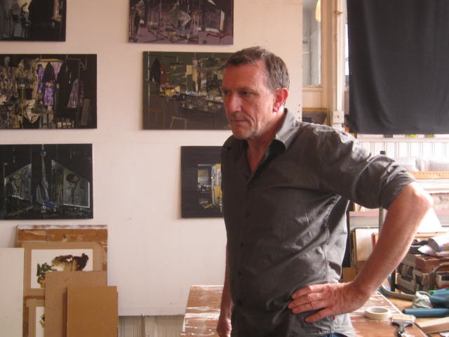 Richard Walker in his studio (all photos by Eve Aschheim)