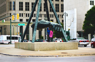 """Vile and his crew revisited Robert Graham's """"Monument to Joe Louis"""" (click to enlarge)"""