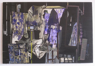 A painting in Richard Walker's studio (click to enlarge)