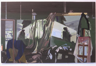 A painting in Walker's studio (click to enlarge)