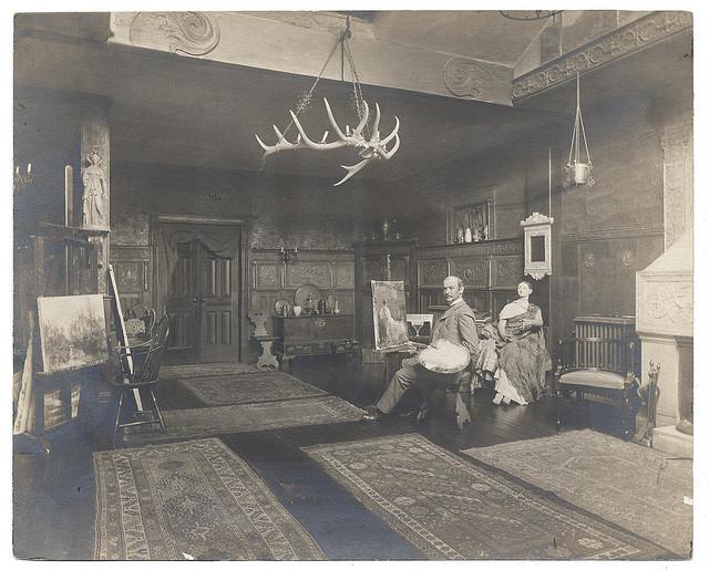 Francis C. Jones in his studio (ca. 1895) (via Smithsonian Institution)