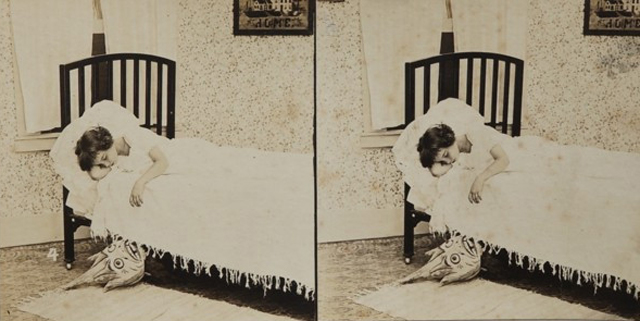 early photographs of a child getting spooked by bogeymen