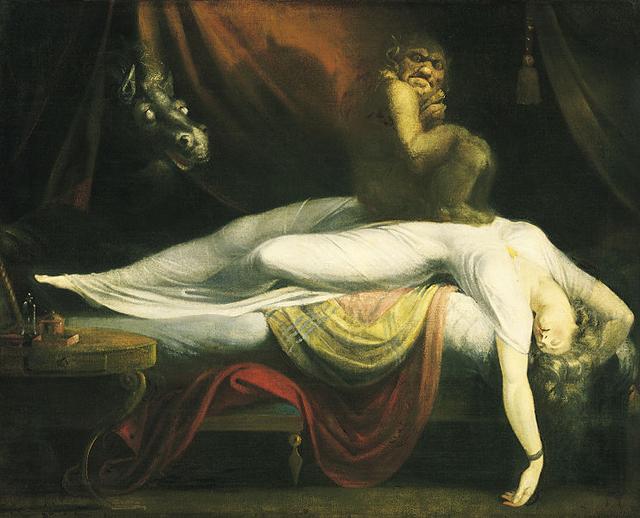 "Henry Fuseli, ""The Nightmare"" (1781) (via Detroit Institute of Fine Arts)"