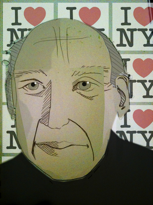 Margarita Korol's illustration of Milton Glaser for Bluecanvas Magazine