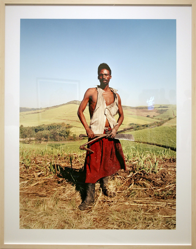 """Zwelethu Mthethwa, Untitled (from the """"Sugar Cane"""" series) (2007), c-print (photo by cliff1066/Flickr)"""