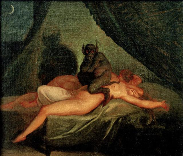 "Nicolai Abraham Abildgaard, ""Nightmare"" (1800) (via Vestjaellands Art Museum, Sorø)"
