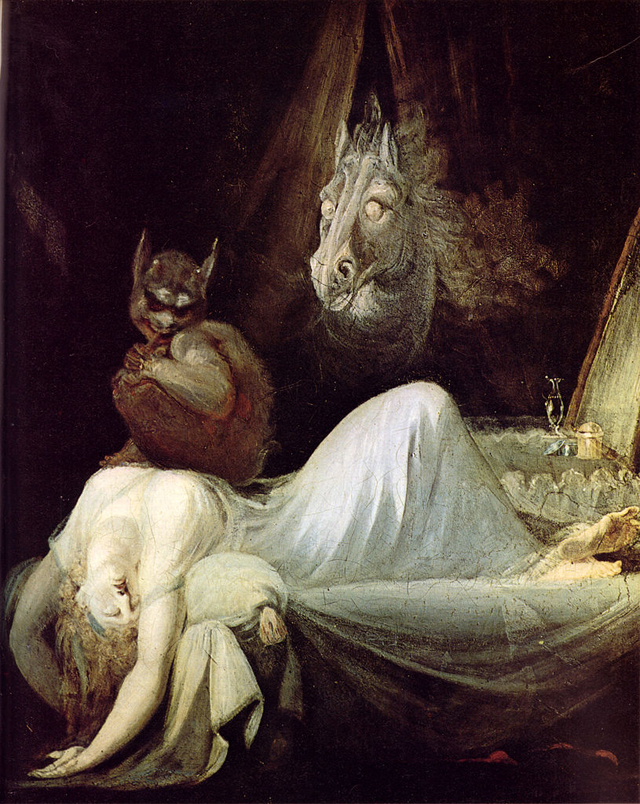 "Henry Fuseli, ""The Nightmare"" (1802) (via Goethemuseum)"
