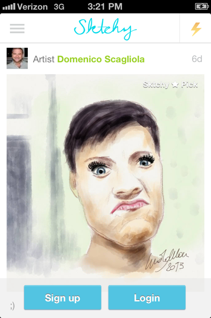Skitchy self-portrait