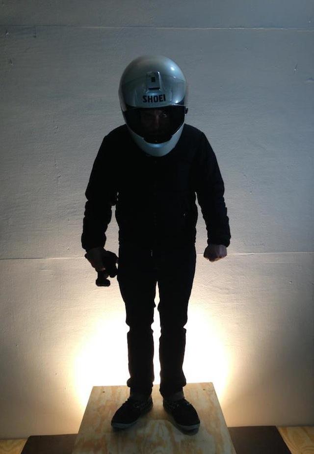 Oli Rodriguez, selfie in a helmet