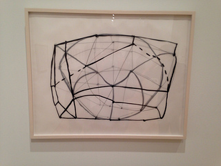 "One of the drawings in Susan Hefuna's ""Untitled"" (2011) series, graphite and ink on paper and tracing paper. Courtesy the artist and Rhona Hoffman Gallery, Chicago."