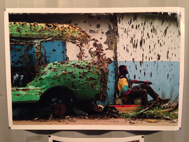 """A photo from Monrovia by Nic Bothma (European Pressphoto Agency) at the """"Liberia: Remembering"""" display."""