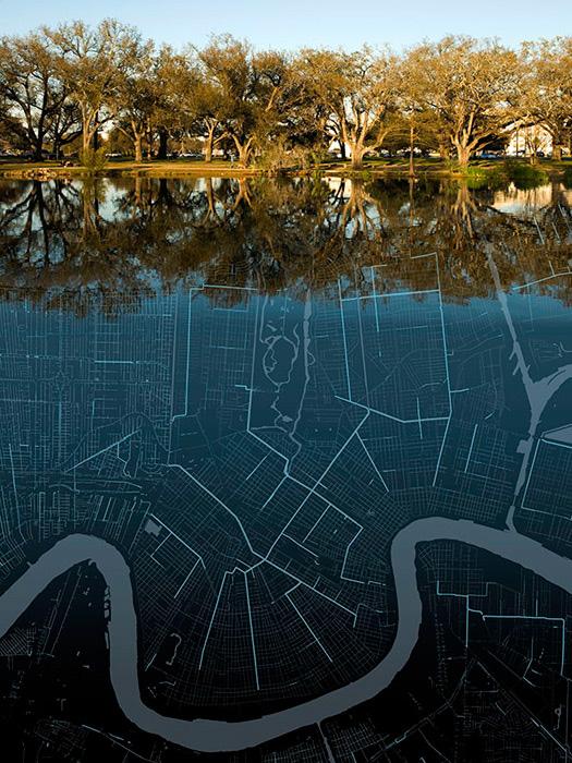 "Jaime Ramiro Diaz, ""Bayou Metairie / Drainage Infrastructure"" (via proteusgowanus.org)"