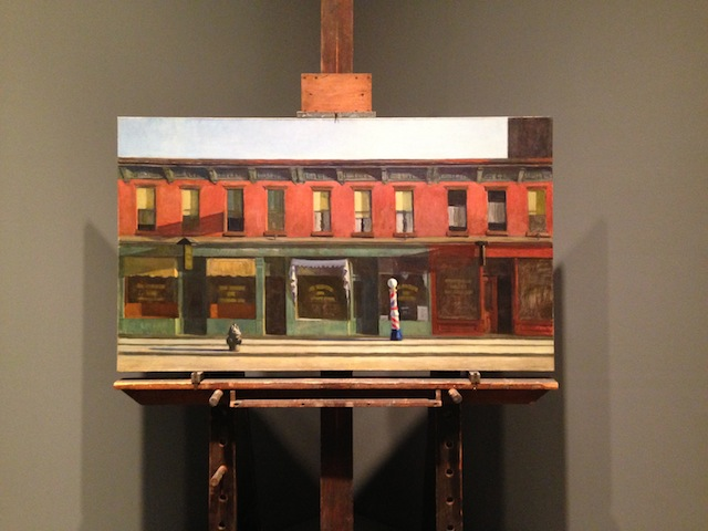"""Edward Hopper, """"Early Sunday Morning"""" (all photographs by the author for Hyperallergic)"""